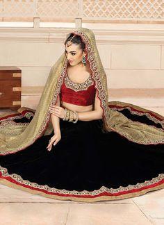 Enamoring Velvet Lehenga Choli
