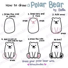 We've been sharing our #doodles over at our Facebook group. But this #polarbear wanted to venture onto Instagram  Check out the rest of my #doodle tutorials in #themodestcat group. Link is in my bio  . .. . #drawwithme #doodlesofinstagram #doodlelove #doodletutorial #drawingtutorial #doodlechallenge #tmcdoodles #cutebear #doodler #kawaii #doodleart