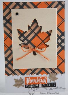The Crafty Owl | Thankful For You Seasonal Snapshot Project Life Card