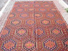 Turkish Anatolian Kilim Rug Natural Wool