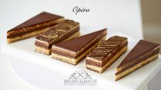 Opera Cake Masterclass – Bruno Albouze Chocolate Glaze, Melting Chocolate, Fridge Cake, Biscuits, Opera Cake, Coffee Buttercream, Lenotre, Pastry Shop, Almond Recipes