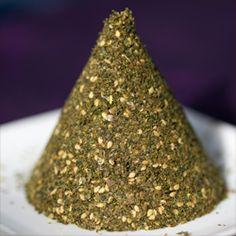 a cone of za'atar spice