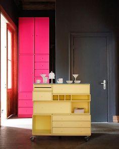 The big Lemon Drop🍋 Montana Furniture, Interior Decorating, Interior Design, Danish Design, Colorful Interiors, Entrance, Lemon, Germany, Indoor