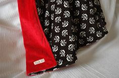 @Destiny Desselle Boutique Double Minky Skull and Crossbones Baby Blanket - SOLD