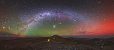 Milky Way with Airglow Australis on a Winter's night in Chile --- Image by Yuri Beletsky (Carnegie Las Campanas Observatory, TWAN)