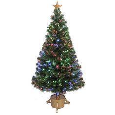 48-inch Multi-color LED Fiber Optic Christmas Tree - Overstock™ Shopping - Great Deals on Seasonal Decor