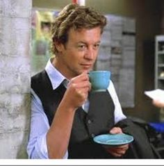 I love this TV show!  Makes me feel so smart when I drink my tea.  The Mentalist Cup and Saucer