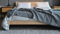 monochrome-modern-cosy-blanket Monochrome Bedroom, Bedroom Black, Bed Company, Contemporary Design, Cosy, Charcoal, Lounge, Blanket, Modern