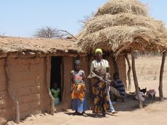 Village family and home in Tanzania.