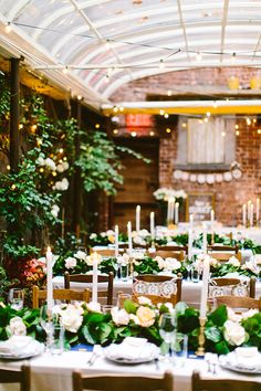 garden restaurant wedding - photo by Redfield Photography http://ruffledblog.com/intimate-garden-restaurant-wedding