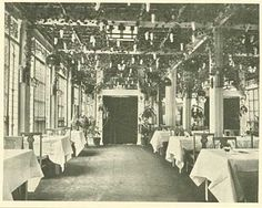 The restaurant inside Donaldson's Glass Block, Nicollet Av. and 6th St., Minneapolis, 1910. The elaborate room was designed by noted Minneapolis decorator John S. Bradstreet. Remembrances of restaurants past