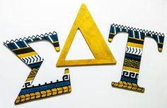 Sigma Delta Tau sorority letters - tribal - glitter