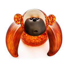 Koongy: 24-11-37 in Amber, Hand-Blown Art Glass by Borowski Glass Studio