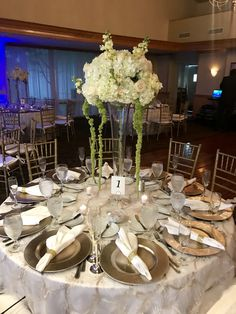 Gorgeous Tall Flower Centerpieces For Wedding Reception At Bonaventure Country Club In Weston FL