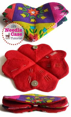 Diy Needle Case with tutorial. By Handwerkjuffie. Sewing Case, Sewing Tools, Sewing Notions, Sewing Tutorials, Sewing Kits, Sewing Box, Hand Sewing, Sewing Hacks, Small Sewing Projects