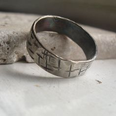 20 PERCENT OFF Mens Wedding Band rustic Ring by tinahdee on Etsy