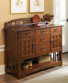 Collecting furniture decoration ideas for a future project. Craftsman Artisan sideboard...
