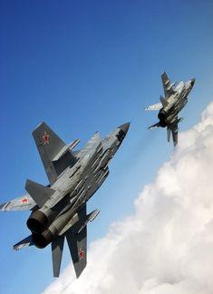 MiG-31 Foxhounds #vliegtuigen #aircrafts