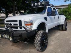 Lifted Ford Trucks, New Trucks, Custom Trucks, Cool Trucks, White Truck, Ford 4x4, Ford Super Duty, Four Wheel Drive, Diesel Trucks