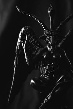 "demonicrux-blog1: "" Perhaps one of the more infamous demons is none other than Baphomet, who has become the official mascot of the Church of Satan and is today considered representative of both Theistic and LaVeyan Satanism alike. Baphomet is a demon..."