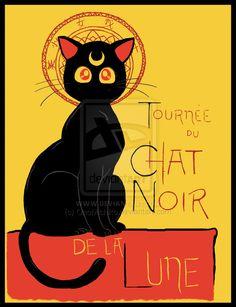"""""""Tournee du Chat Noir de la Lune"""" by DiHA-Artwork.deviantart.com on @deviantART #SailorMoon"""