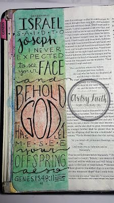 Artsy Faith Genesis Bible, Faith Bible, My Bible, Scripture Art, Bible Art, Bible Study Journal, Scripture Journal, Art Journaling, Kunst