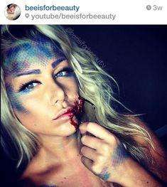 (8) Hooked Mermaid Halloween makeup tutorial #beeisforbeeauty http://youtu.be/QqYoQFUTmI4 | Make up | Pinterest