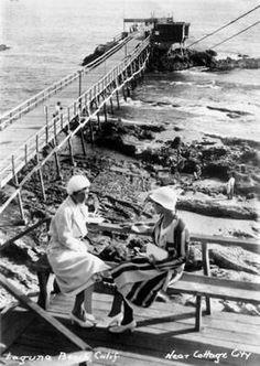 Laguna Heisler Pier in the 1930's. www.jeffreymarkell.com #orangecountyrealtor #jeffforhomes #luxury Orange County California, The Old Days, Beach Walk, Laguna Beach, Old Photos, Railroad Tracks, Old Things, History, Luxury