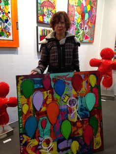 Toto et sa femme s'éclatent à Mulhouse! Félicitations à notre nouvelle collectionneuse de David Ferreira!