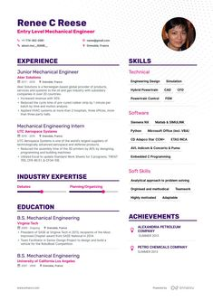 Mechanical Engineering Resume Example Lovely Entry Level Mechanical Engineer Resume Samples and 6 Examples