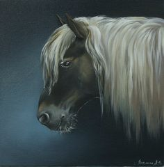 """Horse"" oilpainting on canvas 30x30 - 2014"