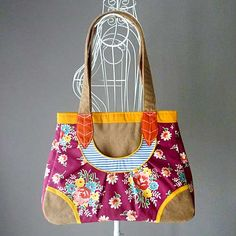 Leaf Pocket Bag (Autumn Garden) by littleoddforest
