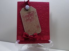 Vintage Santa Tag Christmas Card by TheCraftieOne on Etsy, $5.00