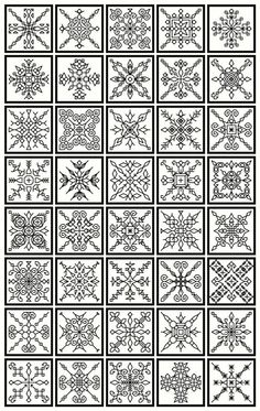 Blackwork collection..20 bookmarks 40 snowflakes by sebadesigns