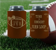 Customized your Super Bowl Wedding koozies! Click the picture to get your FREE proof today