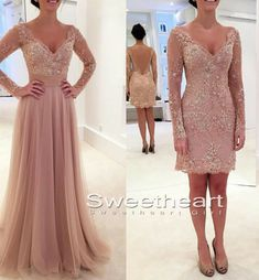 Unique lace tulle two pieces long prom dress, modest prom dress, lace sequin long evening dress for teens 2016