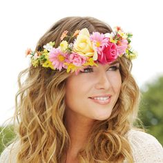 DIY Floral Crown for festivals or weddings