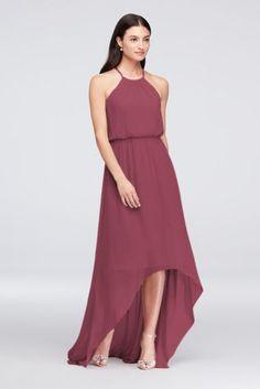 2be4a9a0f52 High-Low Chiffon Halter Bridesmaid Dress F19740 High Neck Bridesmaid  Dresses