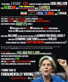 ~ Elizabeth Warren on HSBC
