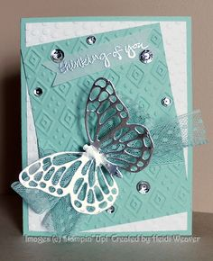 Butterfly Boho Chic - Stampin Along With Heidi: PP247 -- Thinking of you