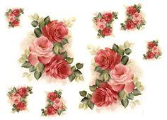 LAMINAS... Y TRABAJOS CON FLORES   Aprender manualidades es facilisimo.com 3d Cards, Decoupage Paper, Album Photo, All Craft, Printable Paper, Flower Seeds, Flower Photos, Vintage Cards, Vintage Flowers