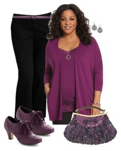 """Plus Size in Plum"" by elise1114 ❤ liked on Polyvore featuring Old Navy, Gucci, Lane Bryant and 1928"