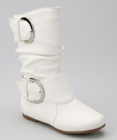 Take a look at this Lucky Top White Data Buckle Boot on zulily today!