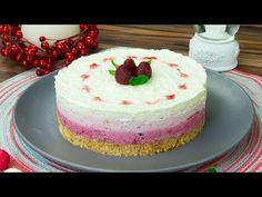 Malinový cheesecake - výborný, zdravý a dokonalý dezert pro naše nejmenší! - YouTube Biscuits, Cheesecakes, Vanilla Cake, Ice Cream, Make It Yourself, Parfait, Youtube, Tv, Cheesecake