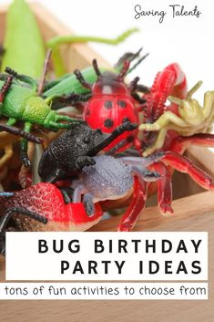 How to plan an awesome bug themed birthday party! Tons of bu themed foods, cookies, games, crafts and more! Holiday Parties, Holiday Fun, Homemade Sidewalk Chalk, Dirt Cake, Jolly Rancher, Food Themes, Party Treats, How To Make Homemade, Food Allergies