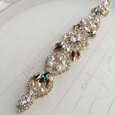 "@helenanoellecouture) on Instagram: ""For lovey bride, Ellen💕... Sophisticated pops of emerald... xoxo"""