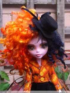 monster high custom repaint Halloween fairy ooak by HausOfDolls