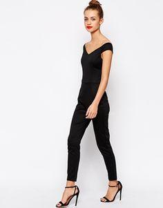 Image 4 ofNew Look Petite Bardot Jumpsuit