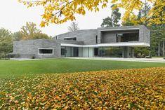 Die Lagerfugen sind kaum zu sehen, es wirkt das Bild Bruchrau geschichteter Steine | Titus Bernhard Architekten ©Jens Weber & Orla Connolly, München