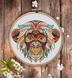 This is modern cross-stitch pattern of Mandala Monkey for instant download. You will get 7-pages PDF file, which includes: - main picture for your reference; - colorful scheme for cross-stitch; - list of DMC thread colors (instruction and key section); - list of calculated